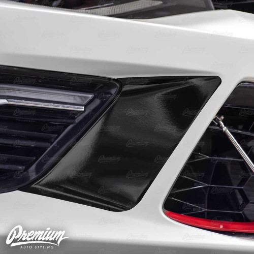 Front Bumper Accent Vinyl Overlay - Gloss Black / Satin Black | 2016-2018 Chevy Camaro - SS / 1LT / 1LE /