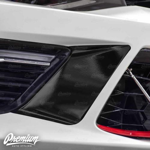 Front Bumper Accent Vinyl Overlay - Gloss & Satin Black | 2016-2018 Chevy Camaro - SS/1LT/1LE