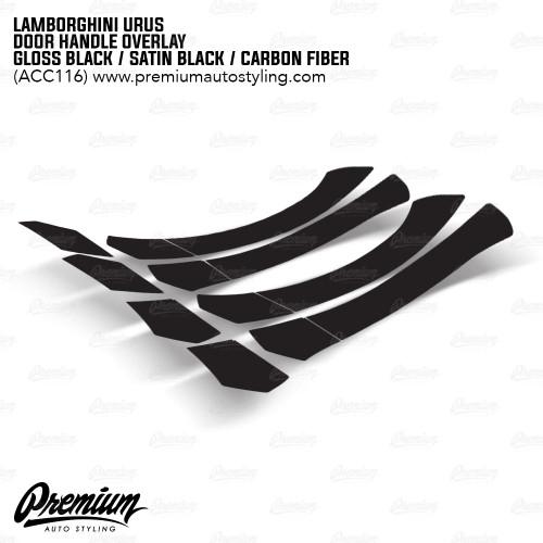 Door Handle Vinyl Overlay - Gloss Black / Satin Black / Carbon Fiber | 2018-2020 Lamborghini Urus
