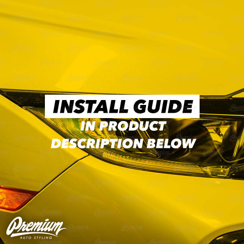 JDM Yellow Headlight DRL Tint Overlay | 2016-2020 Honda Civic Hatchback