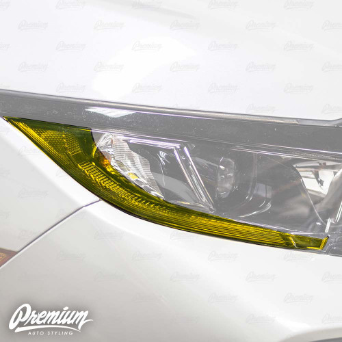 JDM Yellow Headlight DRL Tint Overlay | 2016-2020 Honda Civic Hatchback