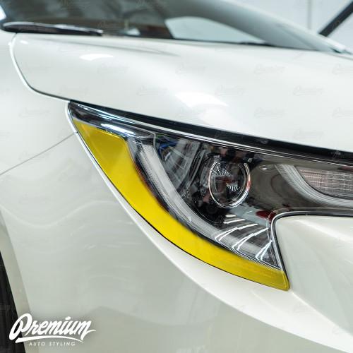 Headlight Amber Delete Overlay - Gloss Black | 2019-2021 Toyota Corolla Hatchback