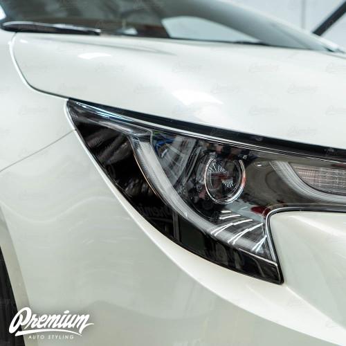 Headlight Amber Delete Overlay - Gloss Black | 2020 Toyota Corolla Hatchback