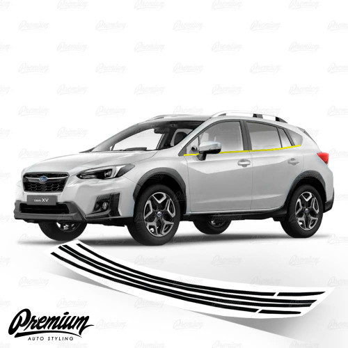 Window Trim Chrome Delete Vinyl Overlay - Satin Black | 2018-2021 Subaru Crosstrek