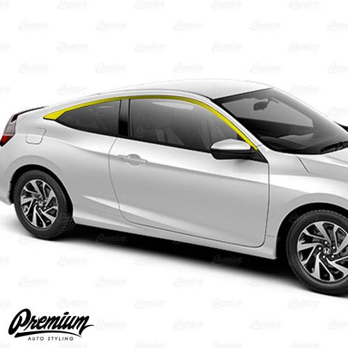 Window Trim Chrome Delete Vinyl Overlay Kit - Satin Black | 2016-2020 Honda Civic Coupe