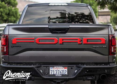 Tailgate Ford Lettering Vinyl Overlay | 2017-2020 Ford Raptor