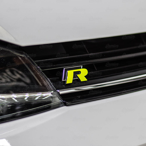 "2015-2019 Volkswagen Golf R   ""R"" emblem overlay set"