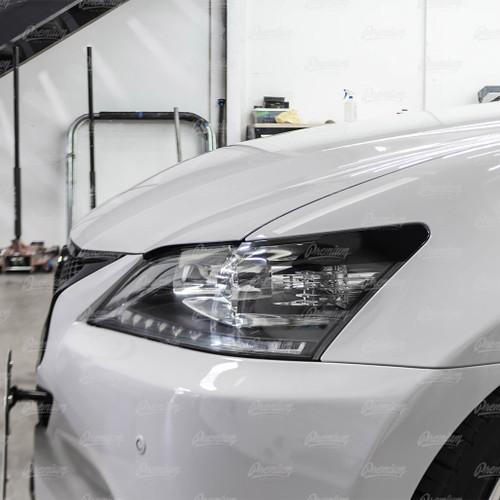 Headlight Amber Delete Vinyl Overlay - Gloss Black | 2014 Lexus GS350 Xenon/HID Headlights