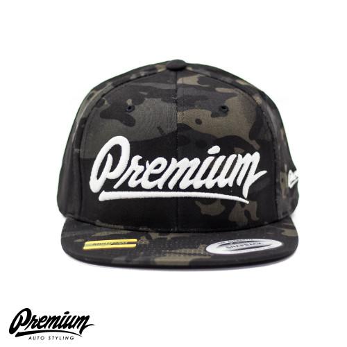 LIMITED RELEASE | Premium Snapback Hat (MULTICAM BLACK / WHITE LOGO )