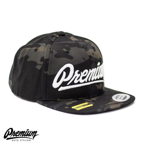 LIMITED RELEASE   Premium Snapback Hat (MULTICAM BLACK / WHITE LOGO )
