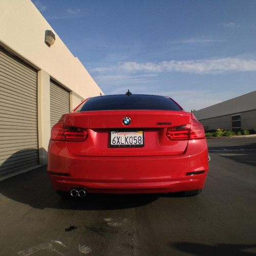 Rear Bumper Reflector Overlays - Smoke Tint | 2012-2014 BMW F30