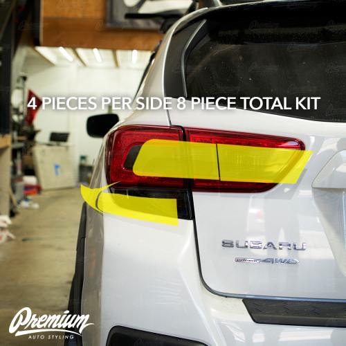 Tail Light Smoke Honeycomb Tint Overlay Kit (FULL STEALTH)  | 2018-2021 Subaru Crosstrek XV