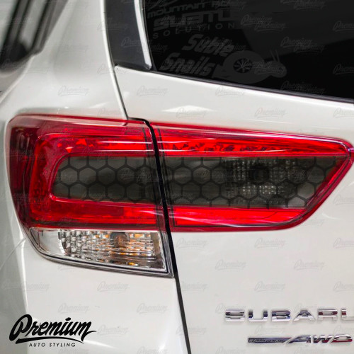 2018-2020 Crosstrek XV Smoked Honeycomb Tail Light Overlays