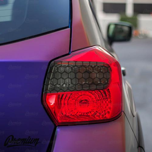 Tail Light Smoked Honeycomb Insert Overlay - Smoke Tint | 2012-17 Crosstrek XV / 2012-15 Impreza Wagon