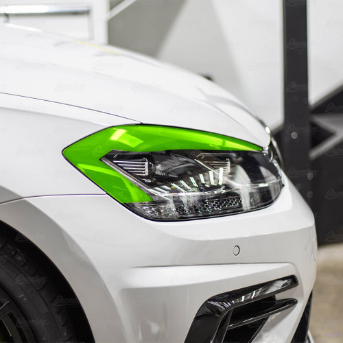 Headlight Eyelid Overlay - Gloss Black | 2018-2020 Volkswagen Golf R