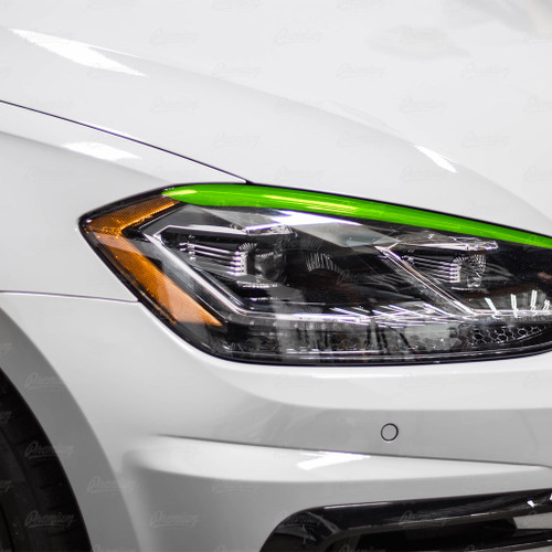 Headlight Sleek Eyelid Overlay - Gloss Black | 2018-2020 Volkswagen Golf R