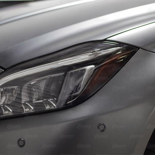 Headlight Amber Delete Vinyl Overlay - Smoke Tint | 2016 Mercedes CLS 63S