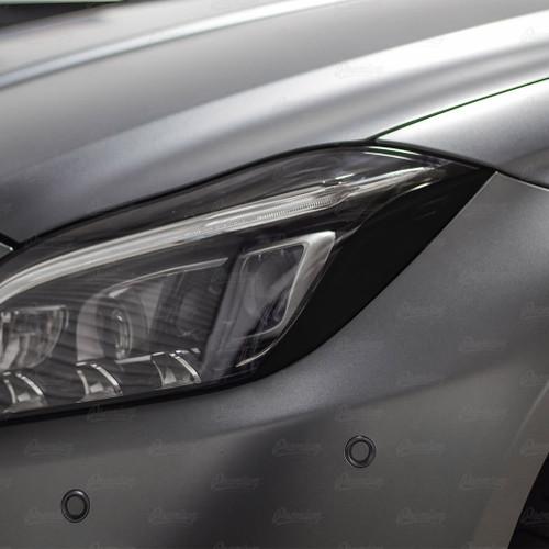 Headlight Amber Delete Vinyl Overlay - Gloss Black | 2016 Mercedes CLS 63S