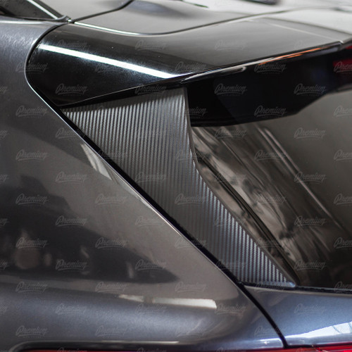 Hatch Pillar Overlay - Carbon Fiber   2018-2021 Subaru Crosstrek