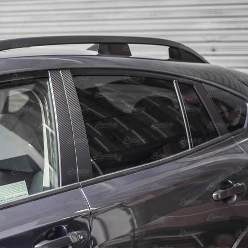 Window Pillar Overlays - Carbon Fiber   2018-2021 Subaru Crosstrek