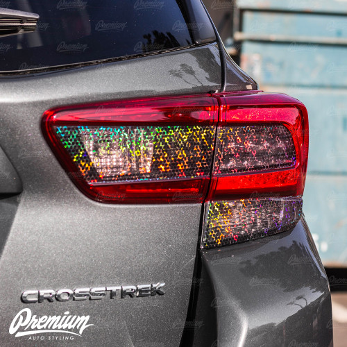 Tail Light  Tint Overlay Kit - Smoke Bio Hex | 2018-2021 Subaru Crosstrek / 2018-2021 Impreza Hatchback