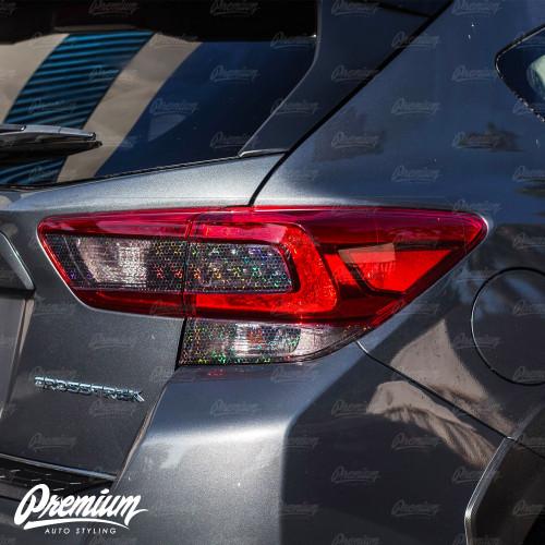 Tail Light  Tint Overlay Kit - Smoke Bio Hex | 2018-2021 Subaru Crosstrek / 2018-2021 Impreza Hatchback