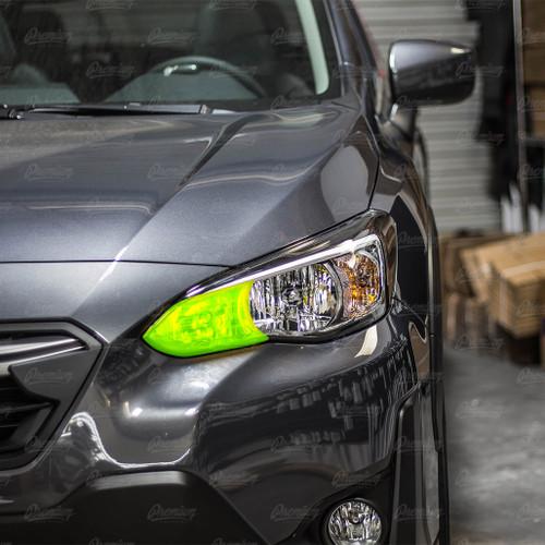 High Beam Overlay - Yellow Tint   2018-2021 Subaru Crosstrek