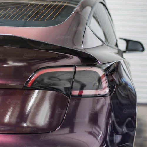 "Tail Light Tint Overlay with ""T"" logo - Smoke Tint 