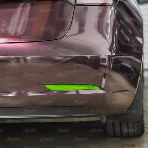 Rear Bumper Reflector Overlay - Smoke Tint | 2017+ Tesla Model 3