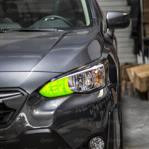 High Beam Overlay - Amber | 2018-2021 Subaru Crosstrek (Halogen Headlights)