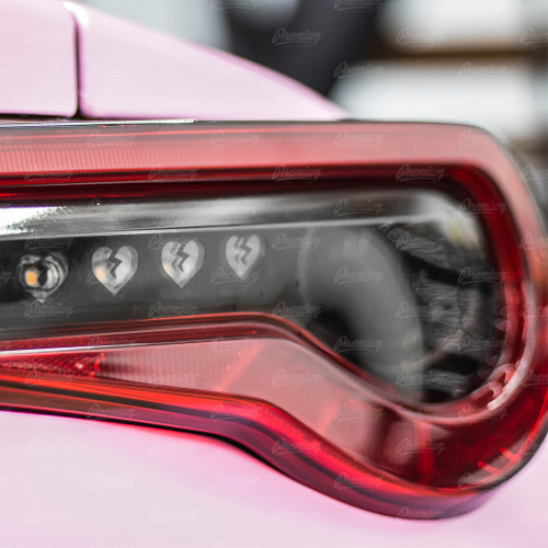 5 Broken Heart Smoked Tail Light Inset Overlay (2017-2020 GT86 & BRZ)