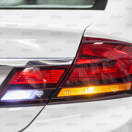 5 Heart Tail Light Tint Overlay - Smoke Tint | 2013-2015 Honda Civic Sedan