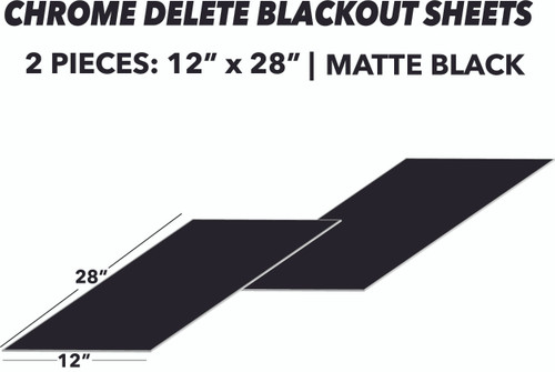 Blackout (Chrome Delete) Sheets 2pcs | Matte Black