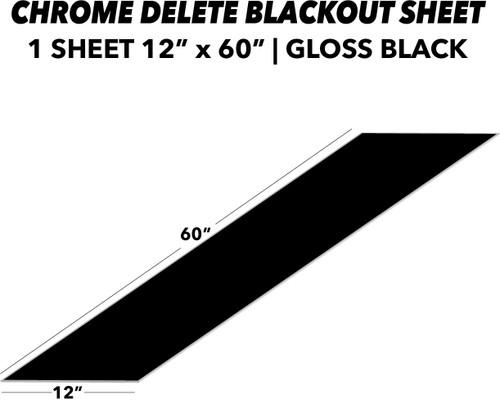 Blackout (Chrome Delete) Sheet | Gloss Black