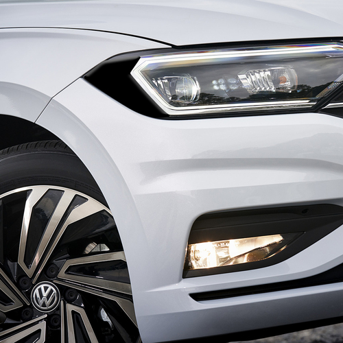 Headlight Amber Delete Overlay  - Gloss Black | 2019-2021 Volkswagen Jetta