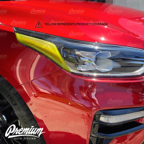 Headlight Amber Delete Overlay  - Gloss Black | 2020-2021 Kia Forte GT