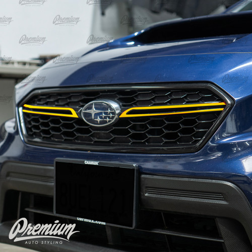 Grille Winglet  Overlays ( Choose Your Color ) | 2018-2021 Subaru WRX / STI
