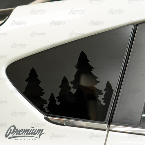Treen line Rear Quarter Window Decal | 2018-2021 Subaru Crosstrek