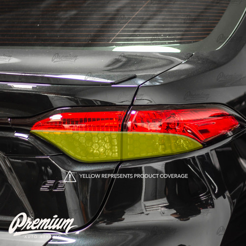 Tail Light Smoke Overlay - Smoked Honeycomb Tint | 2020-2021 Toyota Corolla Sedan