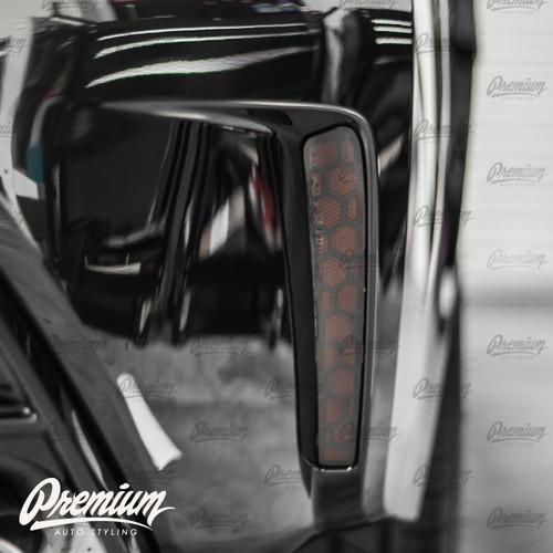 Smoked Rear Bumper Reflector Overlay - Smoke Honeycomb Tint | 2020-2021 Toyota Corolla Sedan
