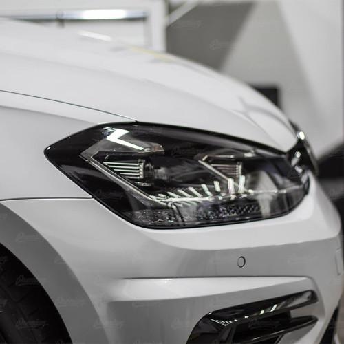 Headlight Amber Delete Vinyl Overlay - Gloss Black | 2018-2020 Volkswagen Golf R