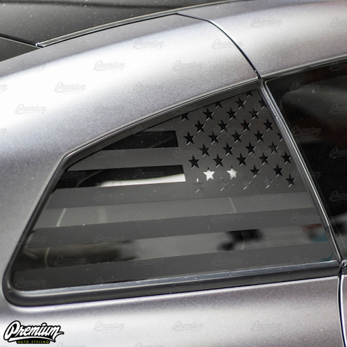 US FLAG Rear Quarter Window Decal | 2009-2021 Nissan GTR