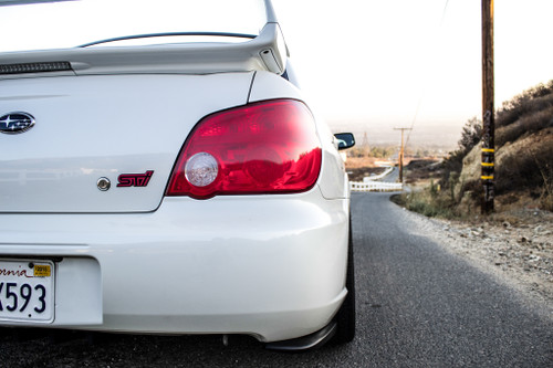 Tail Light with Reverse Light Cut Out Overlay - Red Tint   2006-2007 Subaru WRX / STI