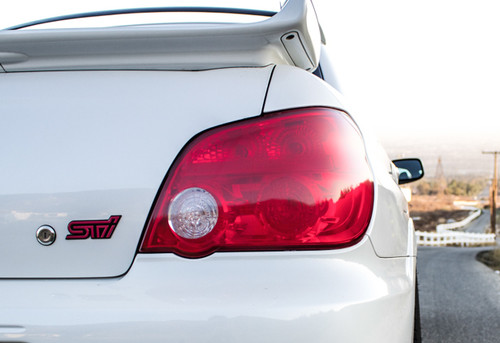 Tail Light with Reverse Light Cut Out Overlay - Red Tint | 2006-2007 Subaru WRX / STI
