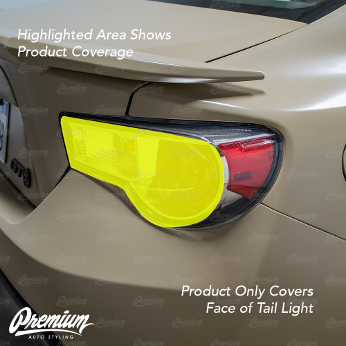 Tail Light Face Overlay - Smoke Tint | 2012-2016 Scion FR-S