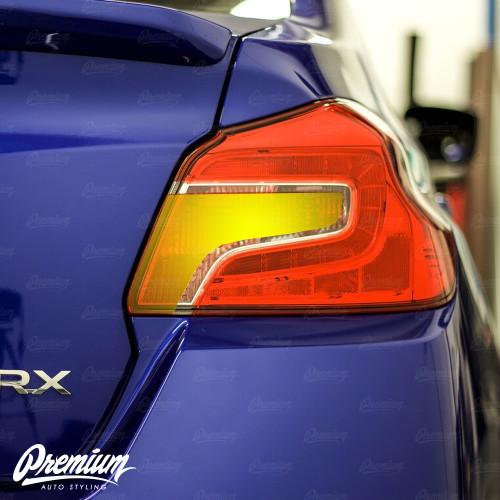 Red Tail Light Overlay w/ Custom Reverse Cutout | 2015-2021 Subaru WRX / STI