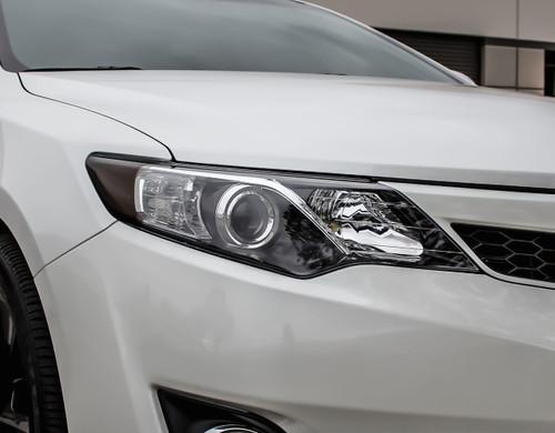 2012-2014 Toyota Camry Headlight Amber Smoked Tint Delete
