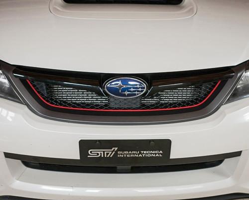 Subaru WRX STI Grill Pinstripe shown in Gloss Red
