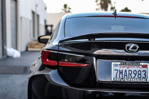 Tail Light Overlay Inserts (FACE ONLY) - Smoke Tint   2015-2018 Lexus RC