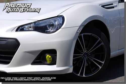 Subaru BRZ Yellow Fog Light Tint Overlays By: Premium Auto Styling